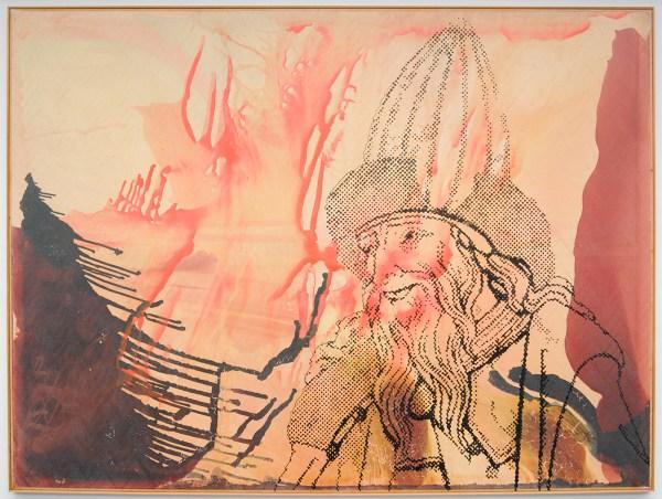 Sigmar Polke - Hermes Trismegistos I-IV - Kunsthars en lak op polyester stof