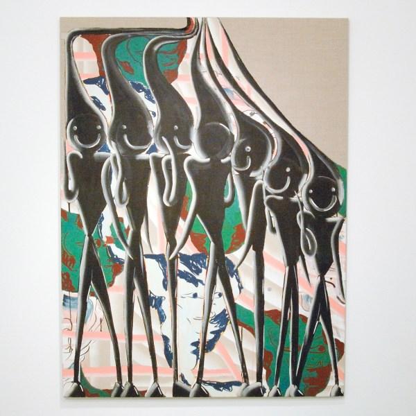 Bridget Mullen - Forgettable Sunsets - 120x90cm Acrylverf en spuitbus op linnen