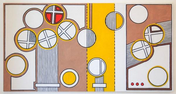Allard Budding - Zonder Titel - 103x196cm, Houtskool en acrylverf op canvas