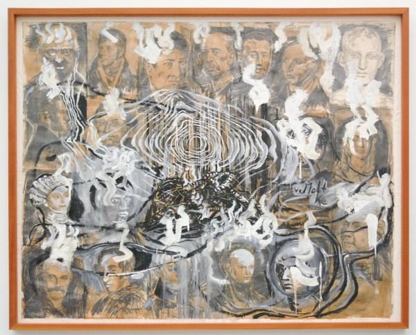 Anselm Kiefer - Wge der Welweisheit (Die Hermannsslacht) ( Wegen der wereldwijsheid, De slag bij het Teutoburgerwoud) - Olieverf op papier