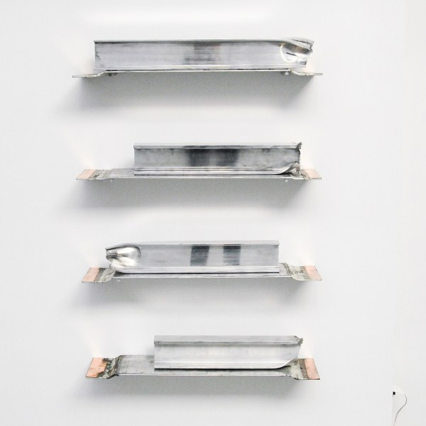 David Jablonowski - Futures (forward Contract - 171x82x20cm, Aluminium en koper