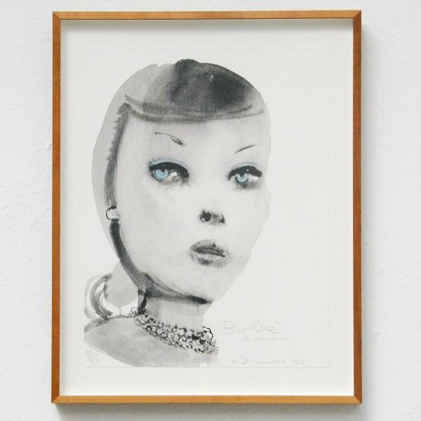 Marlene Dumas - Barbie - Litho print