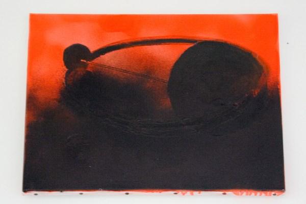 René Daniëls - Untitled - Viltstift en verf op doek