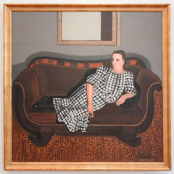 Jean Brusselmans - Dame Au Canape (Dame op Sofa) - Olieverf op doek, 1937