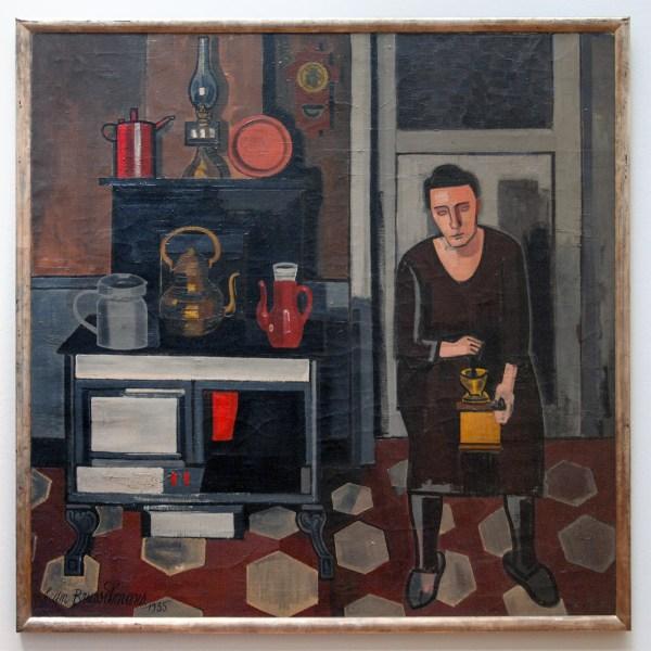 Jean Brusselmans - Femme Dans La Cuisine (Vrouw in de Keuken) - Olieverf op doek, 1935