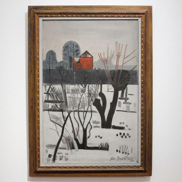 Jean Brusselmans -Grijs Winterlandschap - Olieverf op doek, 1935