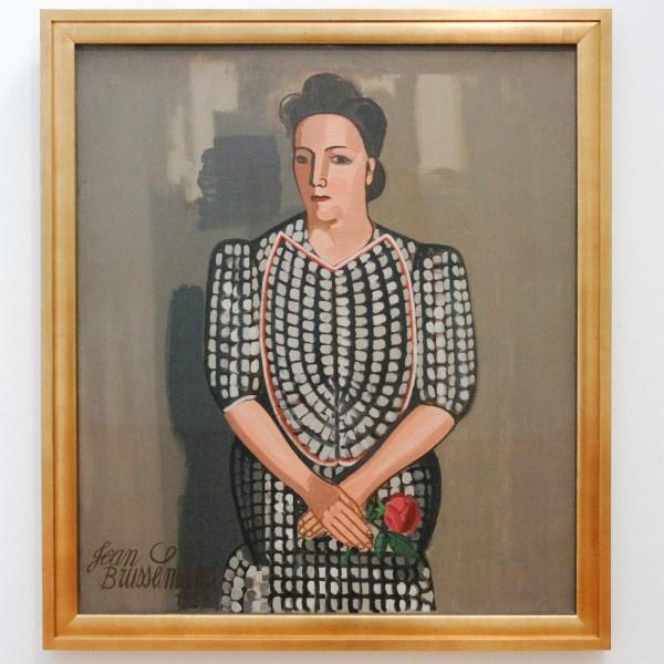 Jean Brusselmans - La Dama A La Rose - Olieverf op doek, 1939