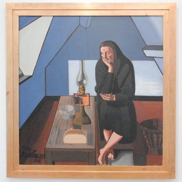 Jean Brusselmans - La Mansarde I (De Zolderkamer I) - Olieverf op doek, 1938