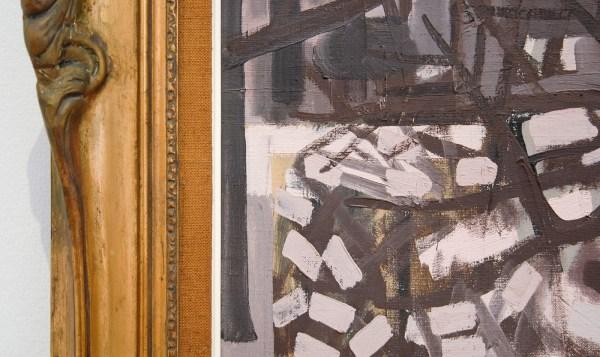 Jean Brusselmans - Winterlandschap - Olieverf op doek, 1950 (detail)