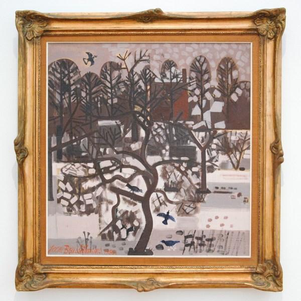 Jean Brusselmans - Winterlandschap - Olieverf op doek, 1950