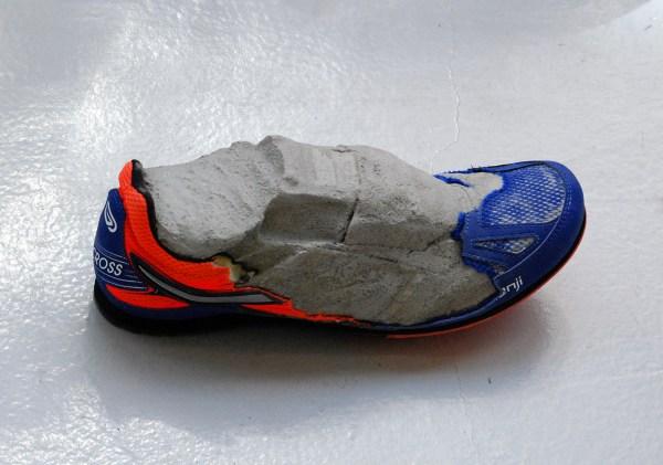 Martin van Zomeren - Nicolas Lamas - Fossil - 11x29x10cm Renschoen en cement