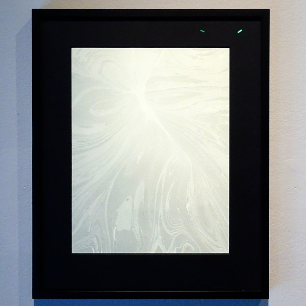 Navid Nuur - When Meaning Gets Marbled - 44x31cm Grafiet inkt op papier, speciaal aluminium frame met aluminium primer
