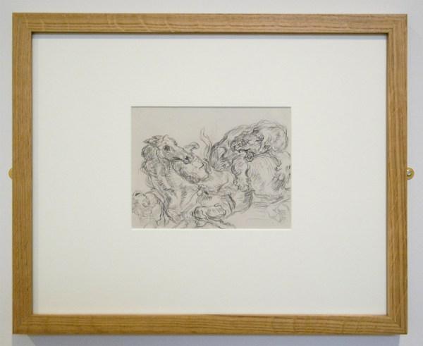 James Ensor - De Leeuwenjacht (kopie naar Delacroix) - Krijt op papier 1885-1886