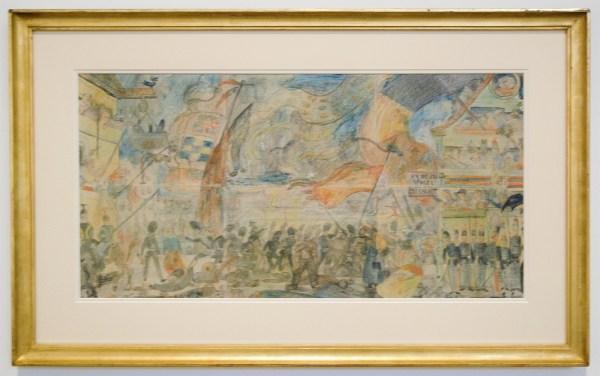 James Ensor - De Staking - Krijt en kleurpotlood op papier, 1888