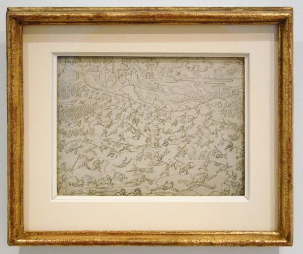 James Ensor - De losbandige soldeniers - Potlood op paneel, 1892