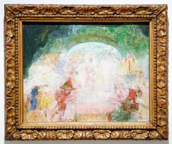 James Ensor - Maskertoneel - Olieverf op doek, 1889