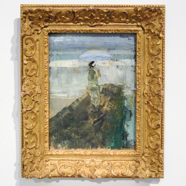 James Ensor - Vrouw op goldbreker - Olieverf op doek, 1880