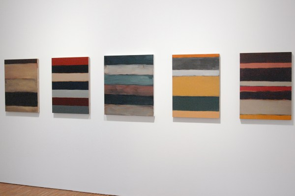 Sean Scully - Landline Black & Landline Pale Blue 8-06 & Landline Dark & Landline Sand & Colored Landline - Olieverf op linnen, 2003-2013