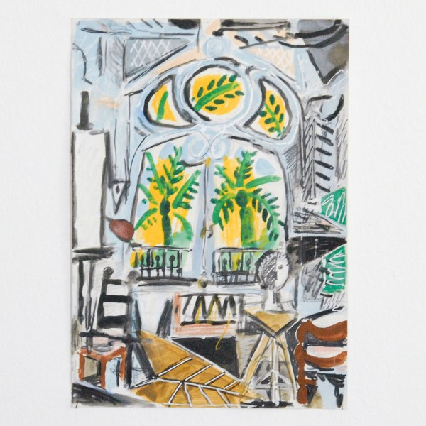 Marijn van Kreij - Untitled (Picasso, The Studio, 1955) - 30x21cm Gouache en potlood op papier