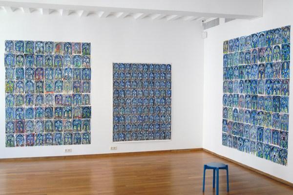 Marijn van Kreij - Untitled (Picasso, the Studio, 1956) - Uit losse vellen en 195x152cm, Gouache, potlood en oliepastel op papier