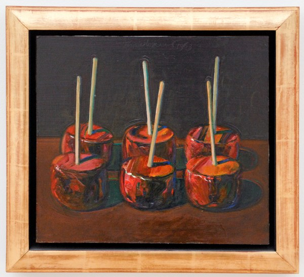 Wayne Thiebaud - Dark Candy Apples - 1988