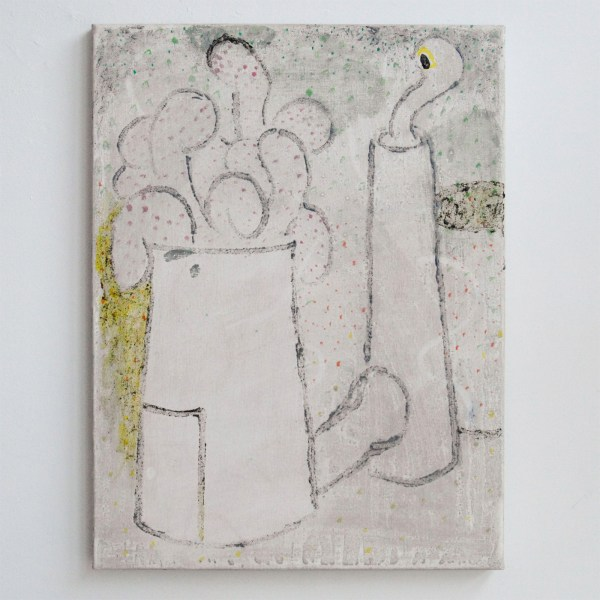 Derk Thijs - Furnace - 60x45cm Acrylverf en caseine op linnen