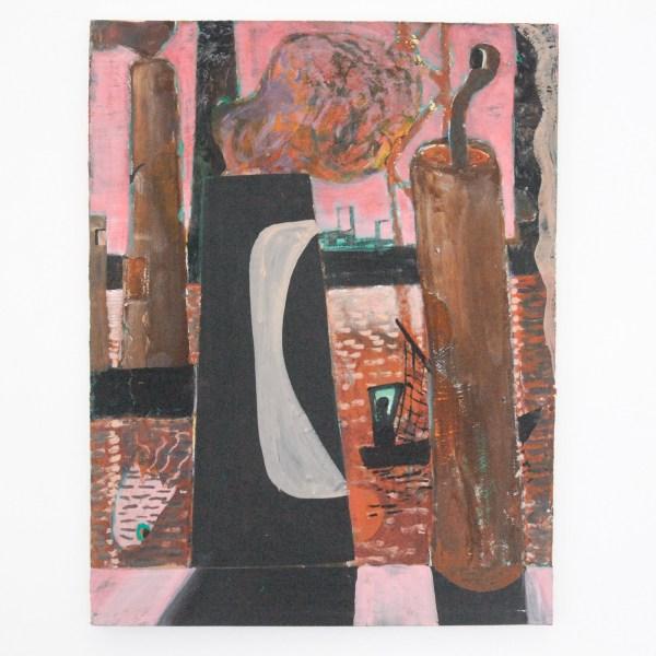Derk Thijs - Hephaistos - 62x48cm Acrylverf, gouache en caseine op papier op doek
