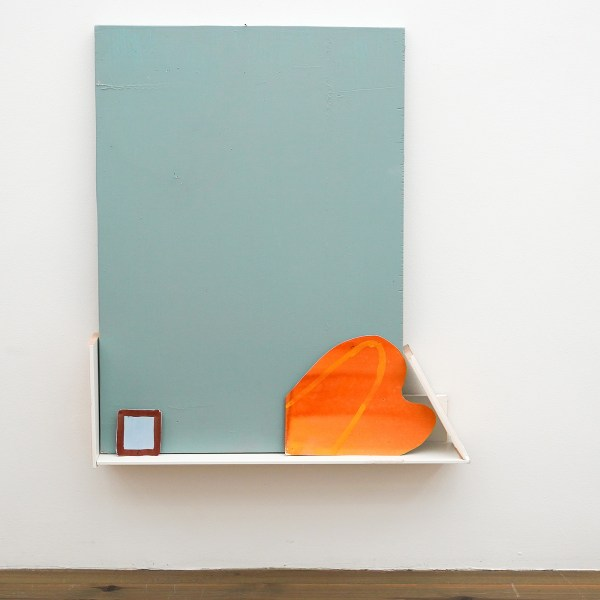 Paul Drissen - The Present, Present, Present - 62x71x11cm Hout, gesso, gouache, papier en stalen naalden