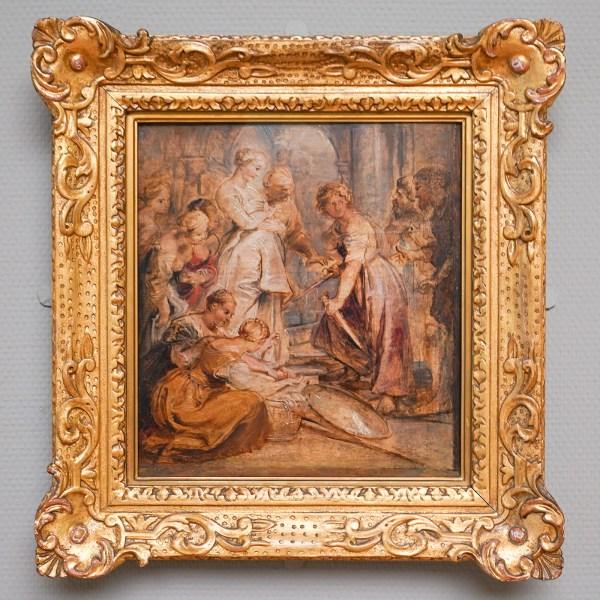 Peter Paul Rubens - De ontmaskering van Achilles te midden van de dochters van Lycomedes - Olieverf op paneel, 1615-1617