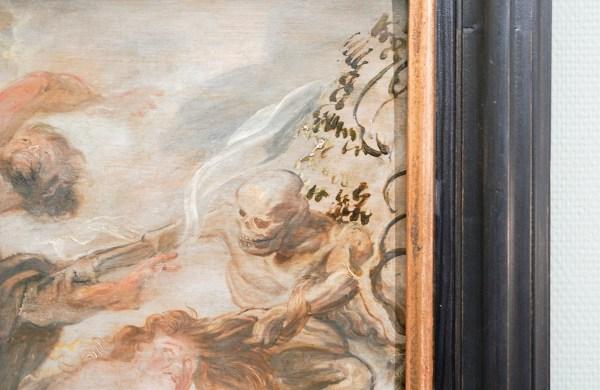 Peter Paul Rubens - De verdrijving van Adam en Eva uit het Paradijs - Olieverf op paneel, 1620 (detail)