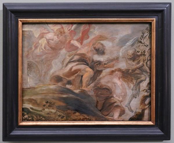 Peter Paul Rubens - De verdrijving van Adam en Eva uit het Paradijs - Olieverf op paneel, 1620