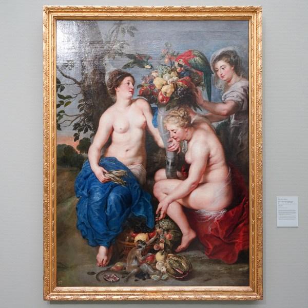 Peter Paul Rubens - Drie nimfen met de hoorn des overvloeds - Olieverf op doek, 1625-1628