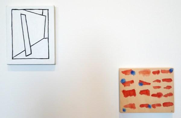 Raoul de Keyser - The Chir - Olieverf en gesso op doek op hout & Fire - Potlood, waterverf en acrylverf op hout, 2010
