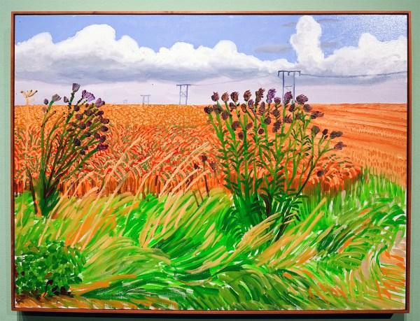 David Hockney - Tarweveld bij Woldgate - Olieverf op doek, 2006