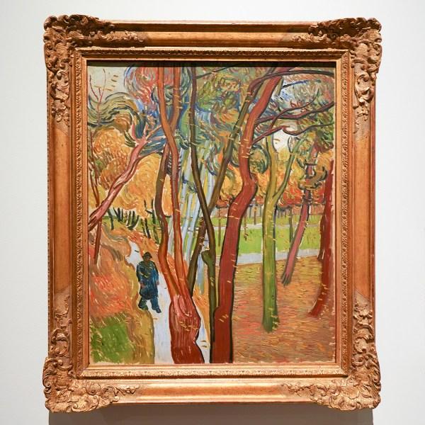 Vincent van Gogh - Tuin van de inrichting Saint-Paul (Het vallen van de bladeren) - Olieverf op doek, 1889
