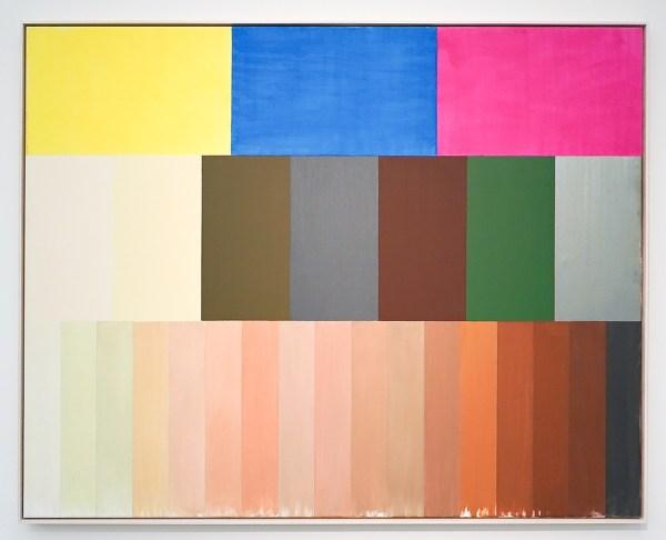Roy Villevoye - Zonder Titel (Benetton) - Olieverf, lak en dermacolor op doek - Collectie AMC, Amsterdam UMC