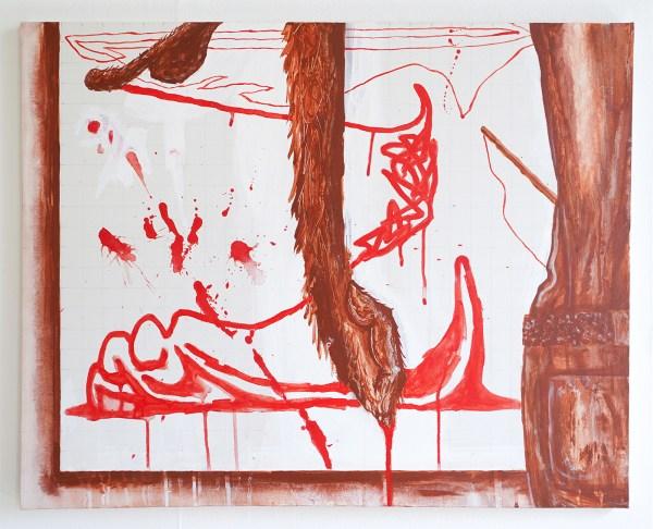 Jason Fox - Zonder titel - 60x75cm, Acrylverf op canvas