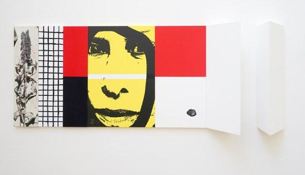 Narcisse Tordoir - Zonder Titel - 60x160x17cm Mixed media op houten paneel