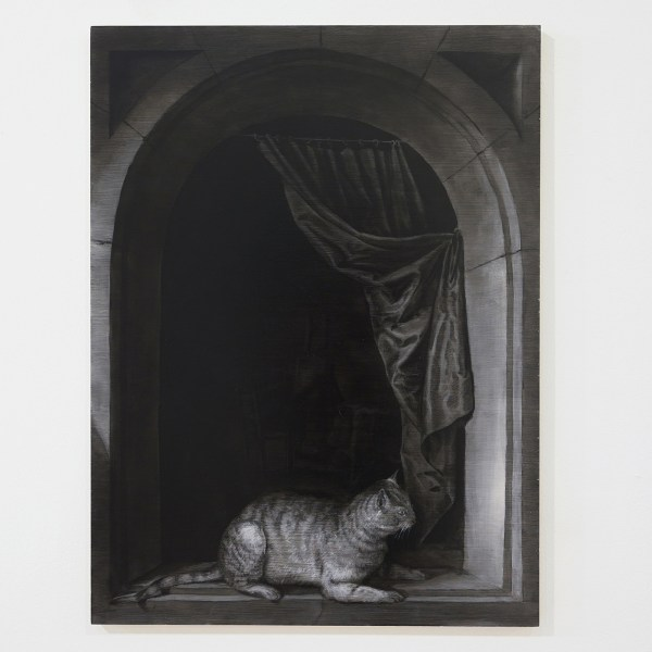 Niek Hendrix - Study of a Window (Gerrit Dou) - 68x51cm Olieverf en potlood op paneel