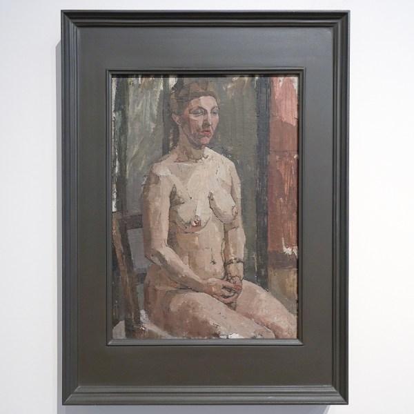 Euan Uglow - Seated Nude - Olieverf op doek, 1954