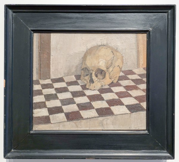 Euan Uglow - Skull - Olieverf op doek, 1952