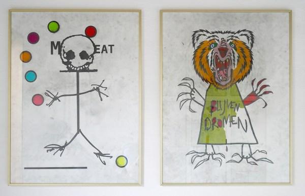 Jo de Smedt - Trench Art - 80x60cm Grafiet en kleurpotlood op papier