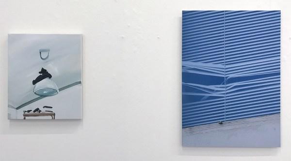 Marie Reintjes - Lamp - 35x30cm Acrylverf op katoen & Joris Boekhoven - Corner - 56x40cm Acrief print op dibond