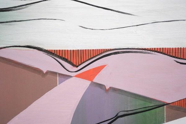 Janine van Oene - Dig Dug - 200x180cm, Olieverf op canvas (detail)