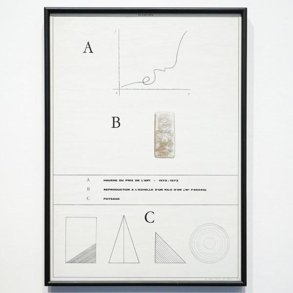 Marcel Broodthaers -Paysage d'automne - 70x50cm Kleurenhoogdruk