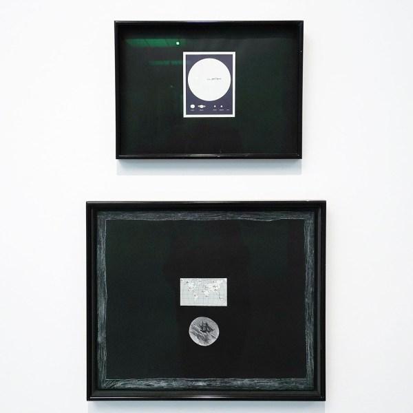 Marcel Broodthaers - Soleil Politique et fig1 fig2 fig 12 fig 0 fig A - Diptiek, druk op papier, collage en inkt