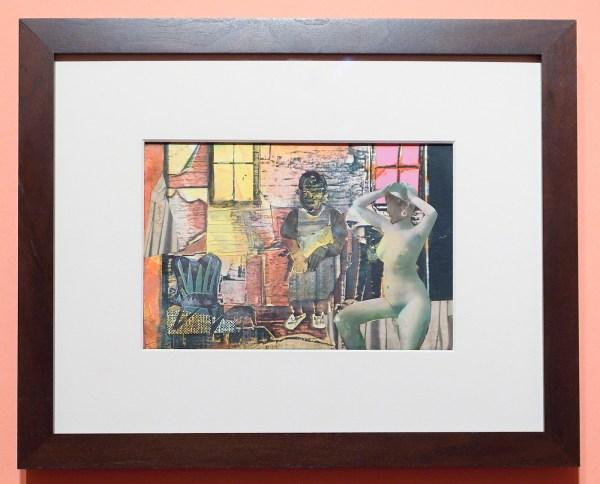 Romare Bearden - Mecklenberg Morning - 33x40cm, Collage op paneel, zonder jaartal