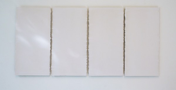Willy de Sauter - Zonder Titel (vierluik)- 30x15cm maal 4 Krijt op hout, 2020