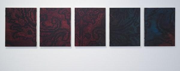Krijn Kroes - True Through series - 5 schilderijen van 50x40cm, Olieverf op canvas