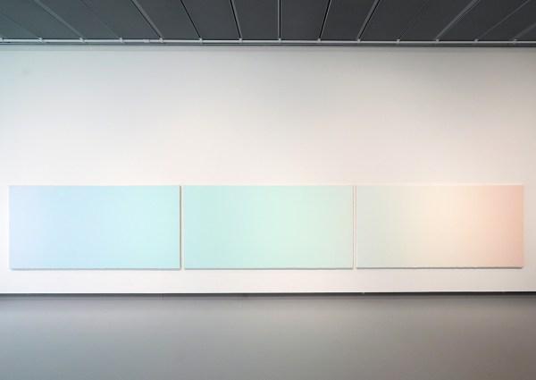 Jan Andriessse - Kleurenspectrum van het licht - Acrylverf en marmerpoeder op doek